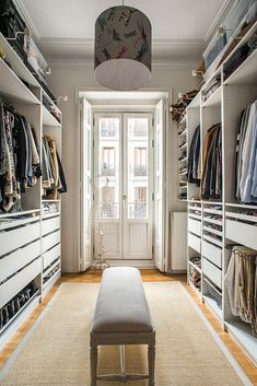 53 Elegant Closet Design Ideas For Your Home. Unique closet design ideas will definitely help you utilize your closet space appropriately. An ideal closet design is probably the only avenue . Best Wardrobe Designs, Closet Designs, Master Bedroom Closet, Woman Bedroom, Master Suite, Spare Room Walk In Closet, Walk Through Closet, Extra Bedroom, Master Bedrooms