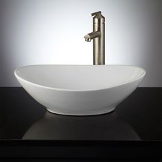 Valor Oval Porcelain Vessel Sink
