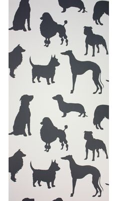 """Osbourne & Little """"Best In Show"""" wallpaper - though I'd prefer just Sham silhouettes, of course - another craft project to add to the pile!"""