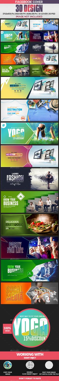 30 Facebook Cover Templates PSD Bundle - 8 Set