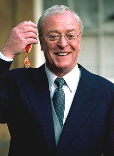 Sir Michael Caine with his CBE - Professor Walfor Jurgas (?)