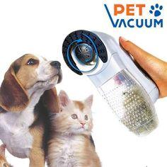 Aspirador de pelo para mascotas, inalámbrico y masajeador para quitar los pelos muertos a perros y gatos. Fácil de limpiar 10,90 Iva Incl.
