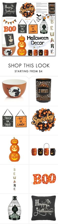 """Haunted House - Halloween Decor: 31/10/17"" by pinky-chocolatte ❤ liked on Polyvore featuring interior, interiors, interior design, home, home decor, interior decorating, Crate and Barrel, Elements, Bethany Lowe and Transpac"
