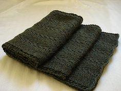 Manly Scarf.  Free knitting pattern