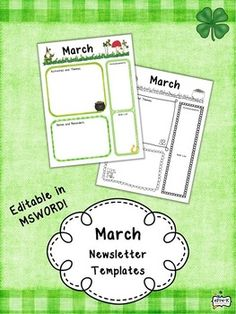 7b2b651575cdc82606f0e6904b113608--free-pre-pre-printables Monthly Themed Newsletter Templates on pre owl, real estate, editable blank, printables for april, young women, doc office, for company pdf,