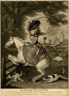 British Museum - The Female Fox Hunter. 1778.