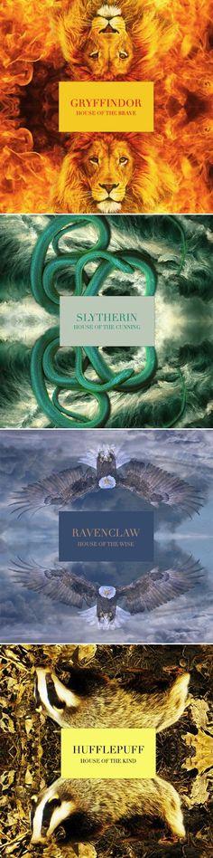 Les différentes maisons dans Harry Potter