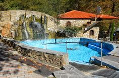 natural spa in Loutra Pozar, Greece Easy Mediterranean Recipes, Greece Travel, To Go, Spa, Holidays, Natural, Outdoor Decor, Holidays Events, Holiday
