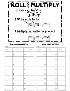 As we all know, multiplication is HUGE in grade!After teaching what multiplication is and all the different ways to multiply.we turn to memorizing those facts. Multiplication Chart Printable, Multiplication Facts Practice, Math Facts, Multiplication Strategies, Long Multiplication, Math Fractions, Printable Worksheets, Fun Math Games, Maths Fun
