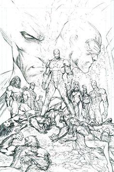 Dark Avengers/X-Men: Utopia - pencils by Marc Silvestri