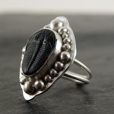 Trilobite Specimen Ring in Sterling Silver  One of a by anatomi, $195.00