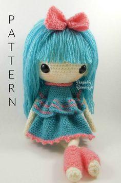 Anastasia 14 Amigurumi Doll Crochet Pattern PDF by CarmenRent