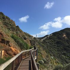 Looking up the stairs towards Cape Schanck Lighthouse | see/do/wander