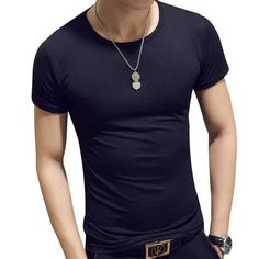 955d4865b Man'S T-Shirt Summer Fashion Solid Color Men Tshirt Fun Army Bodybuilding  Mens Compression Short Sleeve Clothing Men's Tops Tees