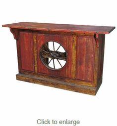 Wagon Wheel Rustic Bar