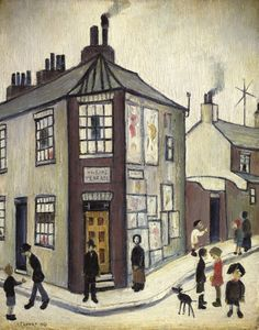 """Wilson's Terrace"" by L S Lowry, One of three views of York, commissioned by York Art Gallery Salford, York Museum, York Art Gallery, Public Display, English Artists, Naive Art, Art For Art Sake, Urban Art, Folk Art"