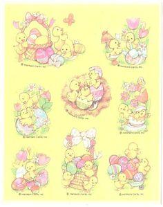 Vtg Hallmark Easter Stickers Chicks Eggs   eBay