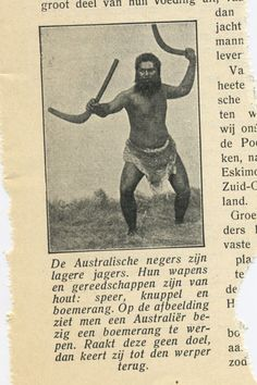 De Australische negers - From Licht (Light) - old Dutch magazine.