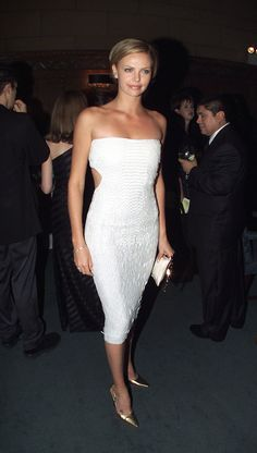 Charlize Theron wowing in white