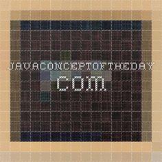javaconceptoftheday.com
