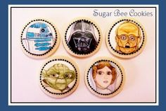 I've painted Star Wars cookies a few times before.. but these are by far my favorite set to date. (Baked, designed, and painted by Krista Cook of Sugar Bee Cookies)