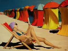"Saatchi Online Artist Peter Seminck; Painting, ""Dolce far niente"" #art"