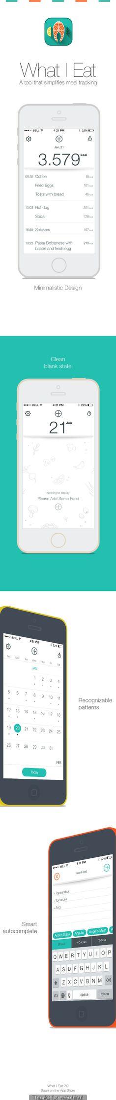 What I Eat App 2.0 #mobile #ui #design pinterest.com/alextcsung/