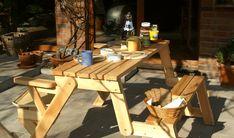 BATIKO ist die Gartentisch-Gartenbank-Kombination aus Naturholz geölt - Gartenmöbel mit Pfiff