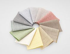 The soft colour palette of Floyd, a discreet and precise upholstery textile designed by Åsa Pärson