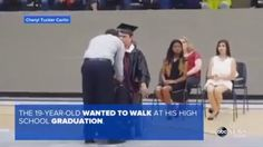 Teen with muscular dystrophy walks to receive diploma (WABC-TV ABC 7)