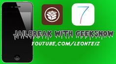 How to Jailbreak an iPhone using Geeksn0w for bypassed devices!