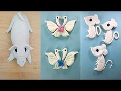 How to make Animal Cakes Wedding Cakes With Cupcakes, White Wedding Cakes, Wedding Cakes With Flowers, Wedding Cake Toppers, Flower Cakes, Gold Wedding, Fondant Cake Toppers, Fondant Cupcakes, Cupcake Cakes