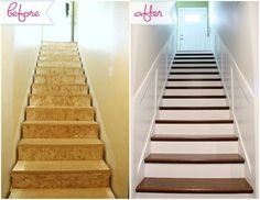Jen Of IHeart Organizing Used A Home Depot Stair Tread Cap And Riser Kit To  Transform