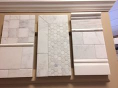 Jeffrey Court Park Place and Classic Statuario Mixed Boards