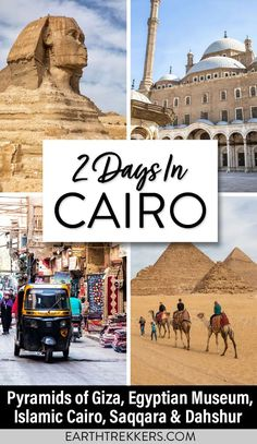 2 days in Cairo and Giza: 2 detailed itineraries. Visit the Pyramids of Giza, the Egyptian Museum, Islamic Cairo, Coptic Cairo, Saqqara, and Dahshur. With advice on where to stay, where to eat, how to get around, and money saving tips. #egypt #cairo #giza #pyramids