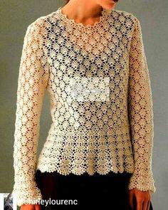 crochelinhasagulhas: Blusa de crochê