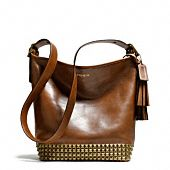 legacy archival duffle in studded leather / coach