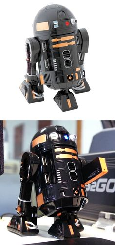 R2-Q5 #USB Hub - Cool and functional addition to your office gizmos and gadgets collection. It even features a spinning head and various sound effects and flashing lights! | via GizmosandGadgets.org