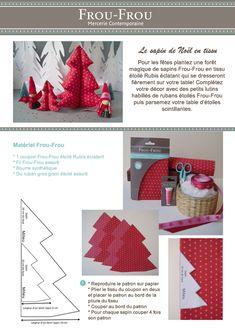Tutoriel DIY Frou-Frou : sapin de Noël en tissu. Fiche couture 1