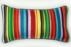 Taj striped pillow w/ tie back