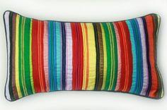 Taj striped pillow w/ tie back