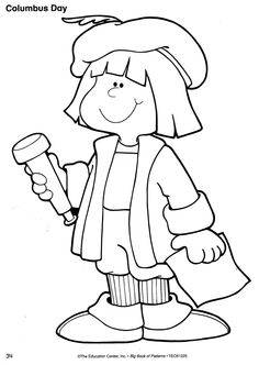 christopher columbus coloring pages free | Christopher Columbus / Columbus Day Patterns | O'Block Books ...