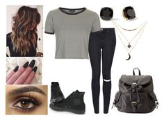 """""""Untitled #420"""" by abundanceofnere on Polyvore featuring Topshop, Converse, Charlotte Russe and Kate Spade"""