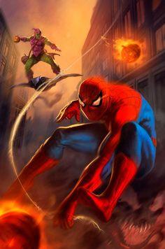 Spider-Man vs. Green Goblin - dleoblack.deviantart.com