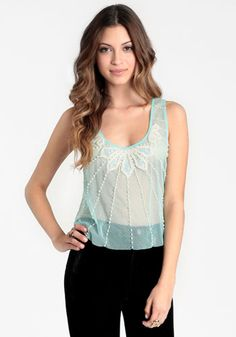 Sparkling Pearl Crop Top 34.00 at threadsence.com