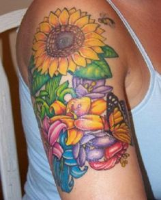 sunflower tattoos on arm - Google Search