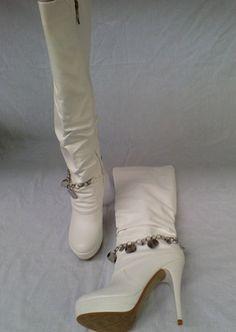 Ladies Knee Length Stiletto High Heel Long Platform Boots ! Price £19.99 ONLY. Ladies Footwear, Platform Boots, High Heels Stilettos, Shoe Boots, Shoes, Slippers, Lady, Women, Fashion