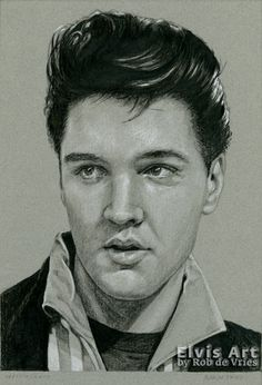 First one for June, Elvis in Charcoal #149, Witchcraft. Charcoal, ink and white chalk on colored paper. 21 x 15 cm. www.elvis-art.com