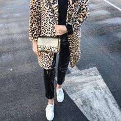 Bag: gold tumblr leopard print fur leopard print winter coat vinyl leather pants black leather pants