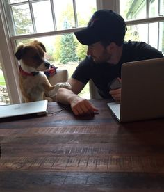 Chris Evans and Dodger being a cutie